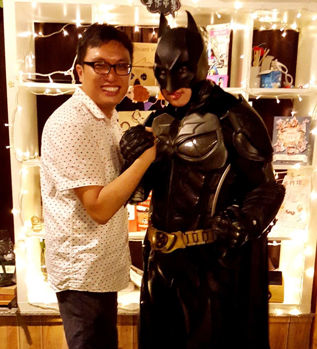 與Batman合照!
